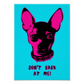 Retro Chihuahua Illustration Poster