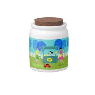 Retro Children's Lemonade Stand Candy Jar