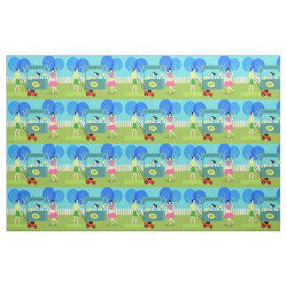 Retro Children's Lemonade Stand Fabric