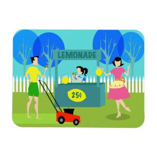 Retro Children's Lemonade Stand Flexible Magnet