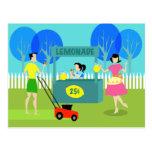 Retro Children's Lemonade Stand Postcard