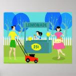 Retro Children's Lemonade Stand Poster