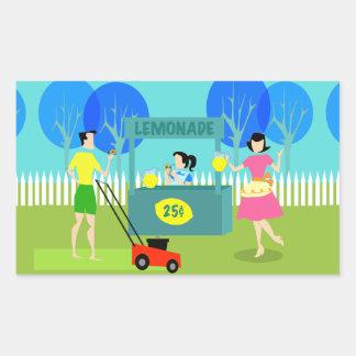 Retro Children's Lemonade Stand Stickers