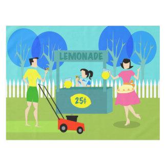 Retro Children's Lemonade Stand Tablecloth