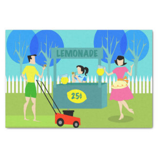 Retro Children's Lemonade Stand Tissue Paper
