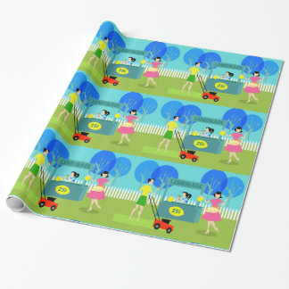 Retro Children's Lemonade Stand Wrapping Paper