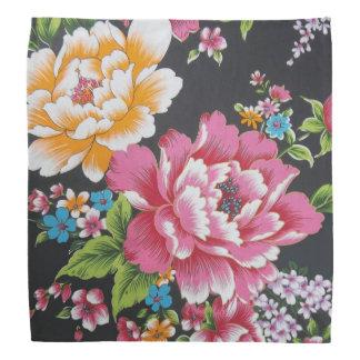 Retro Chinese Hakka Traditional Floral Pattern Bandana