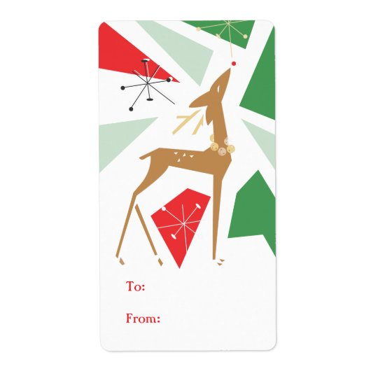 Retro Chirstmas Package Sticker | Tag Shipping Label