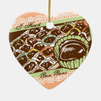 Retro chocolate bon bons candy Christmas ornament