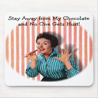 Retro Chocolate Lady Graphic Mousepad