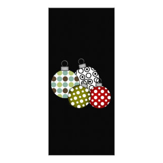 Retro Christmas Balls T-shirts and Gifts Rack Card