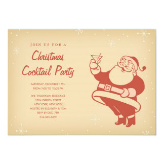 Retro Christmas Cocktail Party Invitations
