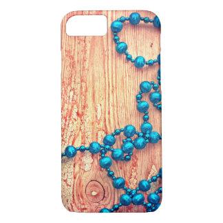 Retro Christmas Decoration, Beaded, Wooden Texture iPhone 8/7 Case