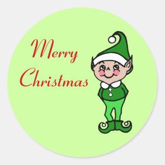 Retro Christmas Elf Stickers