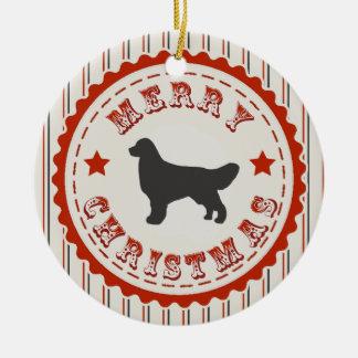 Retro Christmas Golden Retriever Ornaments