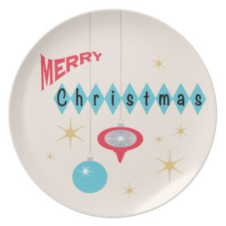 Retro Christmas greeting Plate