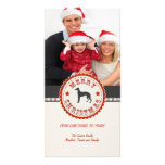 Retro Christmas Greyhound Dog Custom Photo Personalised Photo Card