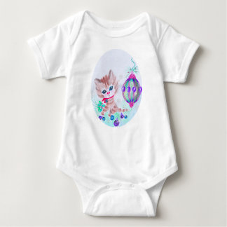 Retro Christmas Kitty Baby Bodysuit
