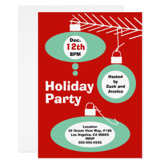 Retro Christmas Party Invitation