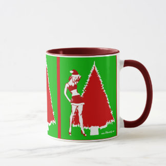 Retro Christmas Pin Up Girl Coffee Mug