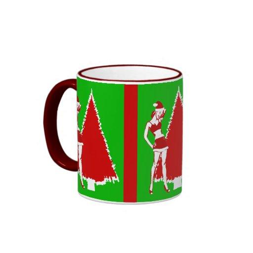 Retro Christmas Pin Up Girl Coffee Mug