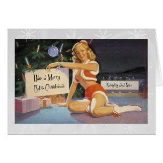 Retro Christmas Pinup Card