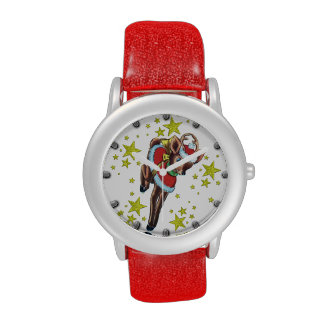 retro christmas reindeer vintage look watch