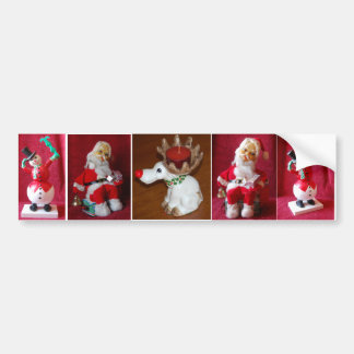 Retro Christmas Santa Claus Toy Bumper Sticker