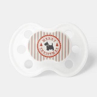 Retro Christmas Scottish Terrier Dog Pacifier
