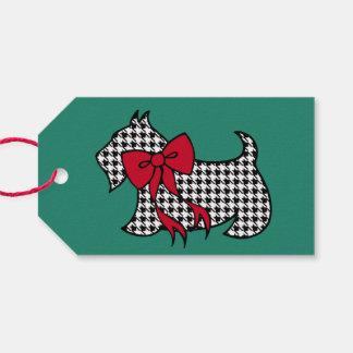 Retro Christmas Scottish Terrier Dog Gift Tags