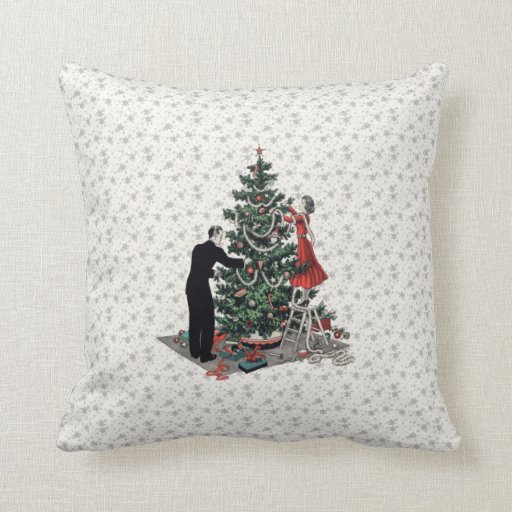 Retro Christmas Tree Pillow