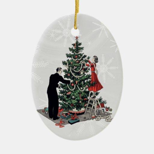 Retro Christmas Tree Christmas Tree Ornaments
