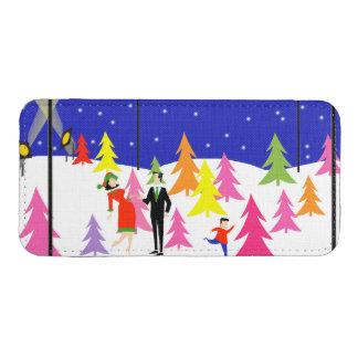 Retro Christmas Tree Farm iPhone 5S Pouch