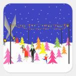 Retro Christmas Tree Farm Stickers