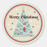 Retro Christmas Tree Holiday Stickers