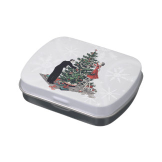 Retro Christmas Tree Jelly Belly Candy Tin