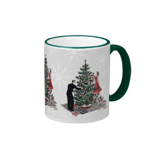 Retro Christmas Tree Mug