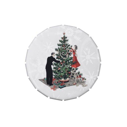 Retro Christmas Tree Jelly Belly Tin
