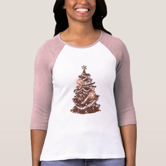 Retro Christmas Tree Women's T-shirts