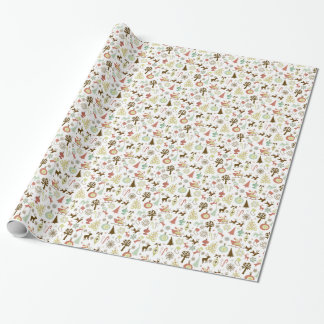 Retro Christmas Wrapping Paper