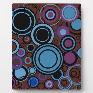 Retro Circle Background Plaque