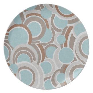 Retro Circle Museum LA Melamine Plate