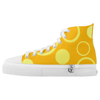 retro circle pattern Custom Zipz High Top Shoes Printed Shoes