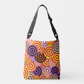 Retro Circles 60's Pattern Crossbody Bag