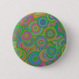 retro circles 6 cm round badge