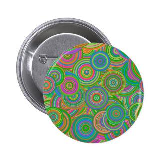 retro circles 6 cm round badge