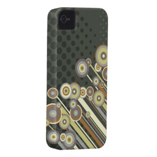 Retro Circles Abstract Stripes iPhone 4 CaseMate iPhone 4 Case