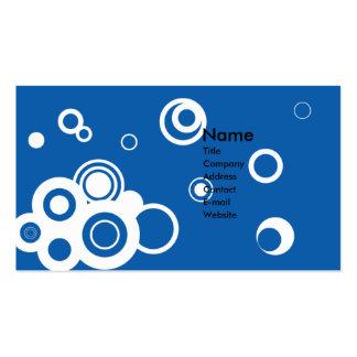 Retro Circles (Blue) Business Card