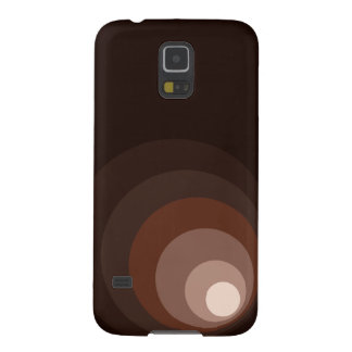 Retro Circles Brown Rust Taupe Cream Galaxy S5 Covers