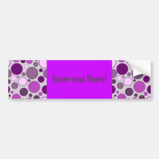 retro circles car bumper sticker